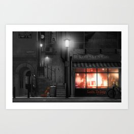 LOST TEDDY | Bukowski's Cafe Art Print