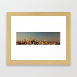 Seattle Skyline Framed Art Print