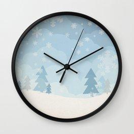 walking in a winter wonderland Wall Clock