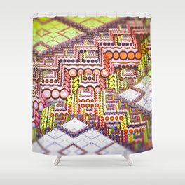 infrastructure II. Abstract Design Shower Curtain