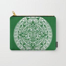 Mayan Calendar // Forest Green Carry-All Pouch