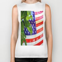 flag Biker Tanks featuring Flag by Jodi Kassowitz Photography