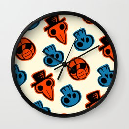 Pandemic Patterns - History Repeats (Colored) Wall Clock