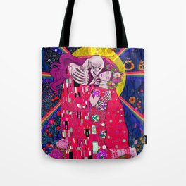 The Kiss Macabre Tote Bag