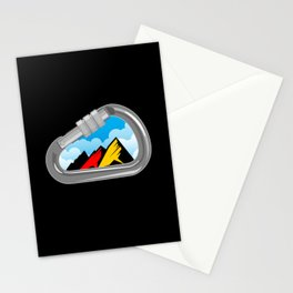Climbing Carabiner with Germany Flag Stationery Cards