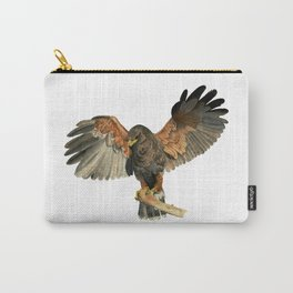 Hawk Flapping Wings Watercolor Painting Carry-All Pouch