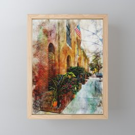 Fells Point Flower Pots, Baltimore Waterfront, Neighborhoods,  Framed Mini Art Print