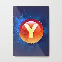 Y Xbox Button Metal Print