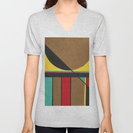 Jazz 2 of 8 abtracts Unisex V-Neck