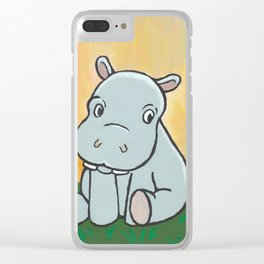 Baby Hippo Clear iPhone Case