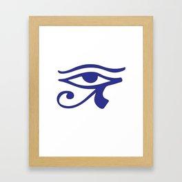 Eye of Horus Blue Wedjat Framed Art Print