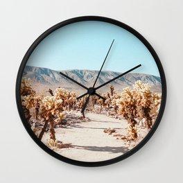 cholla cactus garden x Wall Clock