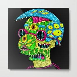 Milhouse Monster Metal Print