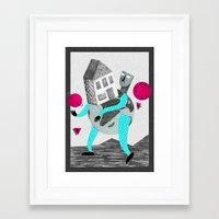 globe Framed Art Prints featuring GLOBE by Vértice Design Studio
