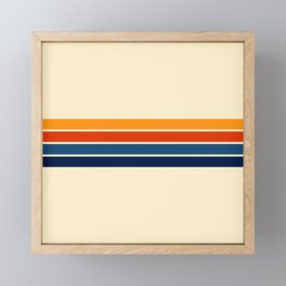 Classic Retro Stripes Framed Mini Art Print