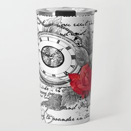 Pocket watch and rose Travel Mug