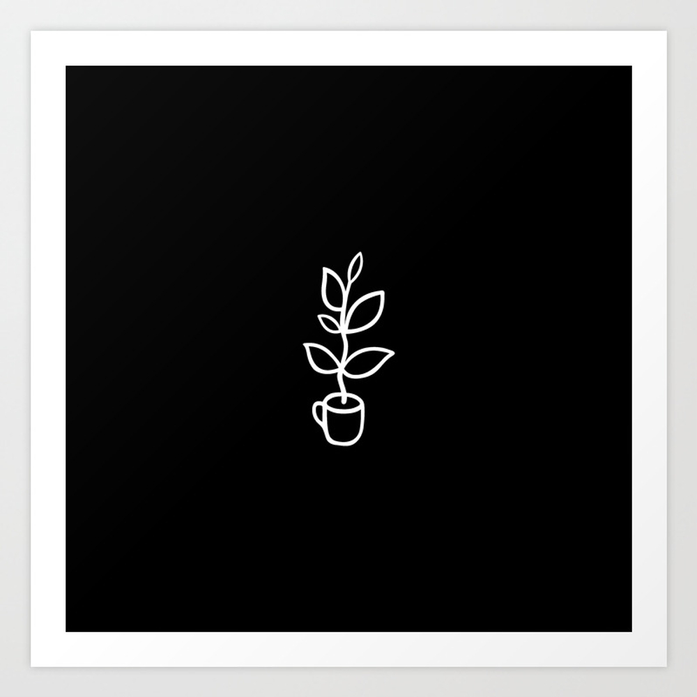 Plant In A Coffee Cup Poster by Minimalcircles PRN8370552
