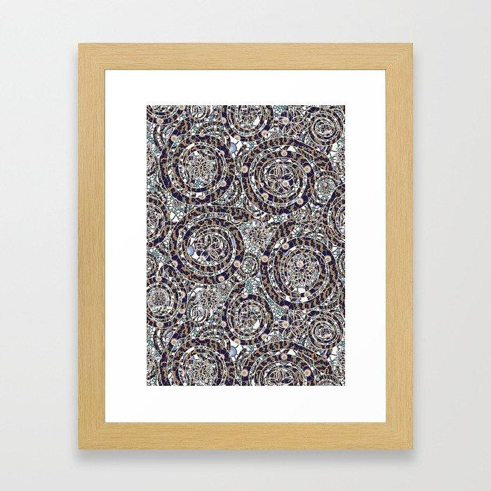 Year of the Snake mosaic Framed Art Print