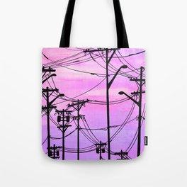 Industrial poles violet Tote Bag