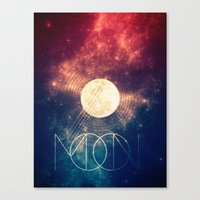 the moon Canvas Prints featuring Moon by Victor Vercesi