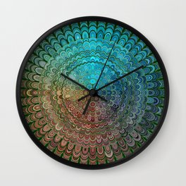 Cold Metal Flower Mandala Wall Clock
