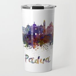 Padua skyline in watercolor Travel Mug