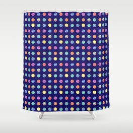 Outer Space - Polka Dot Planets Shower Curtain