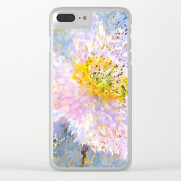 Anemone mosaic Clear iPhone Case