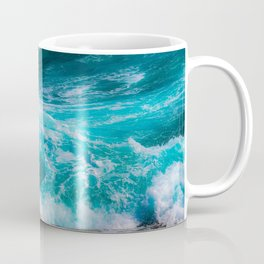 bright blue stormy waters Coffee Mug
