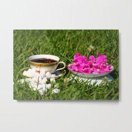 Country Coffee Metal Print
