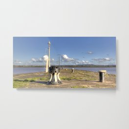 Lydney Harbour Jetty Metal Print