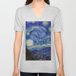 Starry Night Unisex V-Neck
