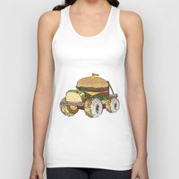 junk food Tank Tops featuring junk food car by immiggyboi90