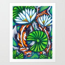Coy Carp Art Print