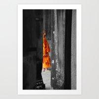 Saffron Portrait III Art Print