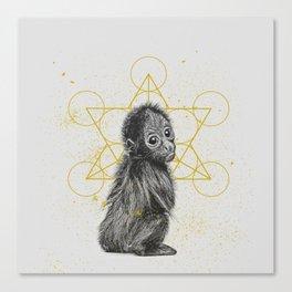sketchy monkey Canvas Print