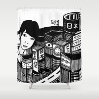 japan Shower Curtains featuring Japan by Matt Ferguson