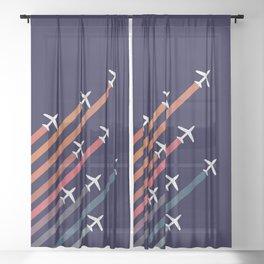 Aerial acrobat Sheer Curtain
