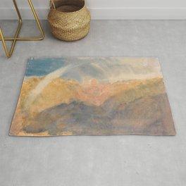 "J.M.W. Turner ""Crichton Castle (Mountainous Landscape with a Rainbow)"" Rug"