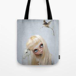 Erregiro Blythe Custom Doll, The White Horse Tote Bag