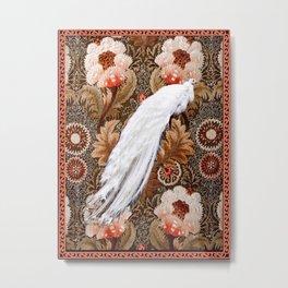 Floral Peacock Metal Print