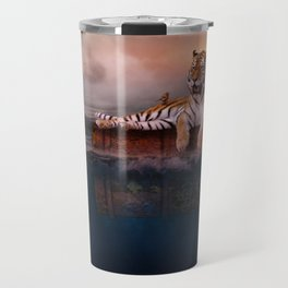 Octopus and Shark Attacks Tiger by GEN Z Travel Mug