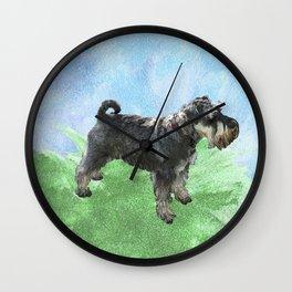 Henry - the Schnauzer dog Wall Clock