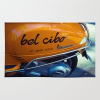 motorbike Area & Throw Rugs featuring Bel Cibo Motorbike by Michael McGimpsey