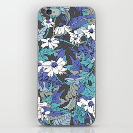 Floral Forest in Blue iPhone Skin