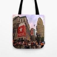 manhattan Tote Bags featuring Manhattan by Jaime Viens