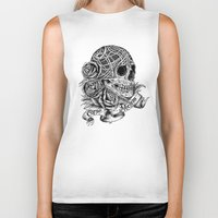 carpe Biker Tanks featuring Carpe Noctem (Seize the Night) by Rachel Caldwell