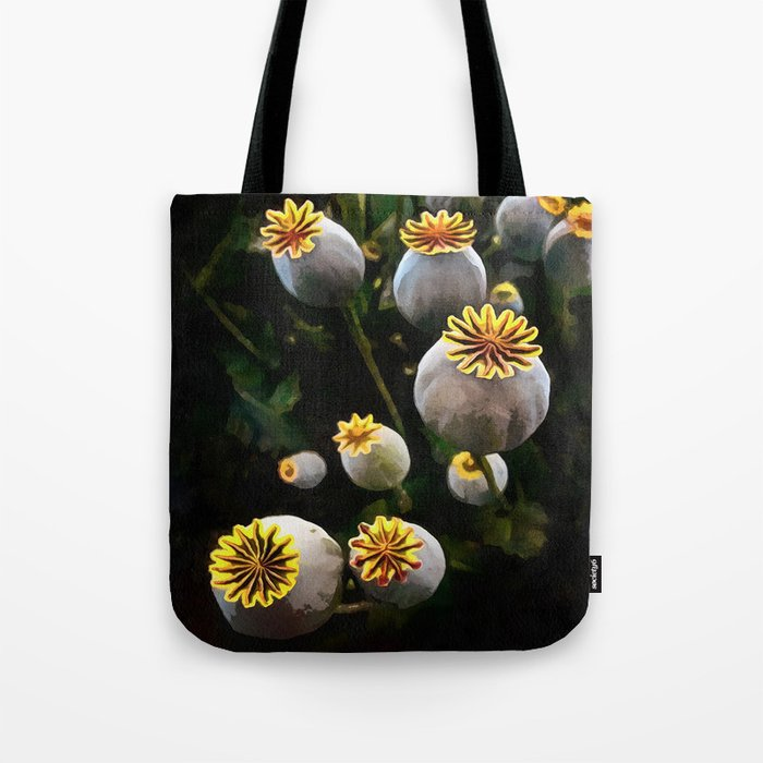 Poppy Seed Pod Tote Bag By Aaenskacholpanova Society6