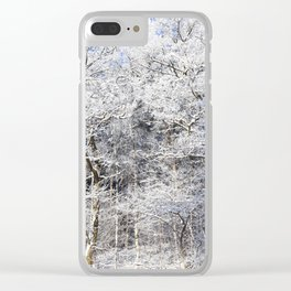 deciduous trees Clear iPhone Case