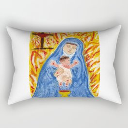Our Lady with infant crucified Christ Rectangular Pillow